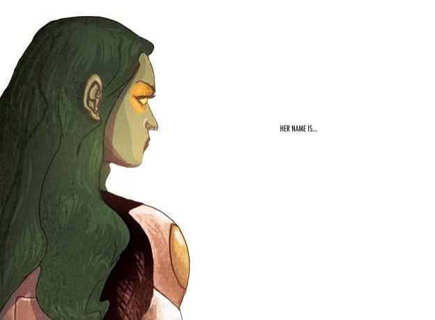 Gamora and Tony Stark hook up.