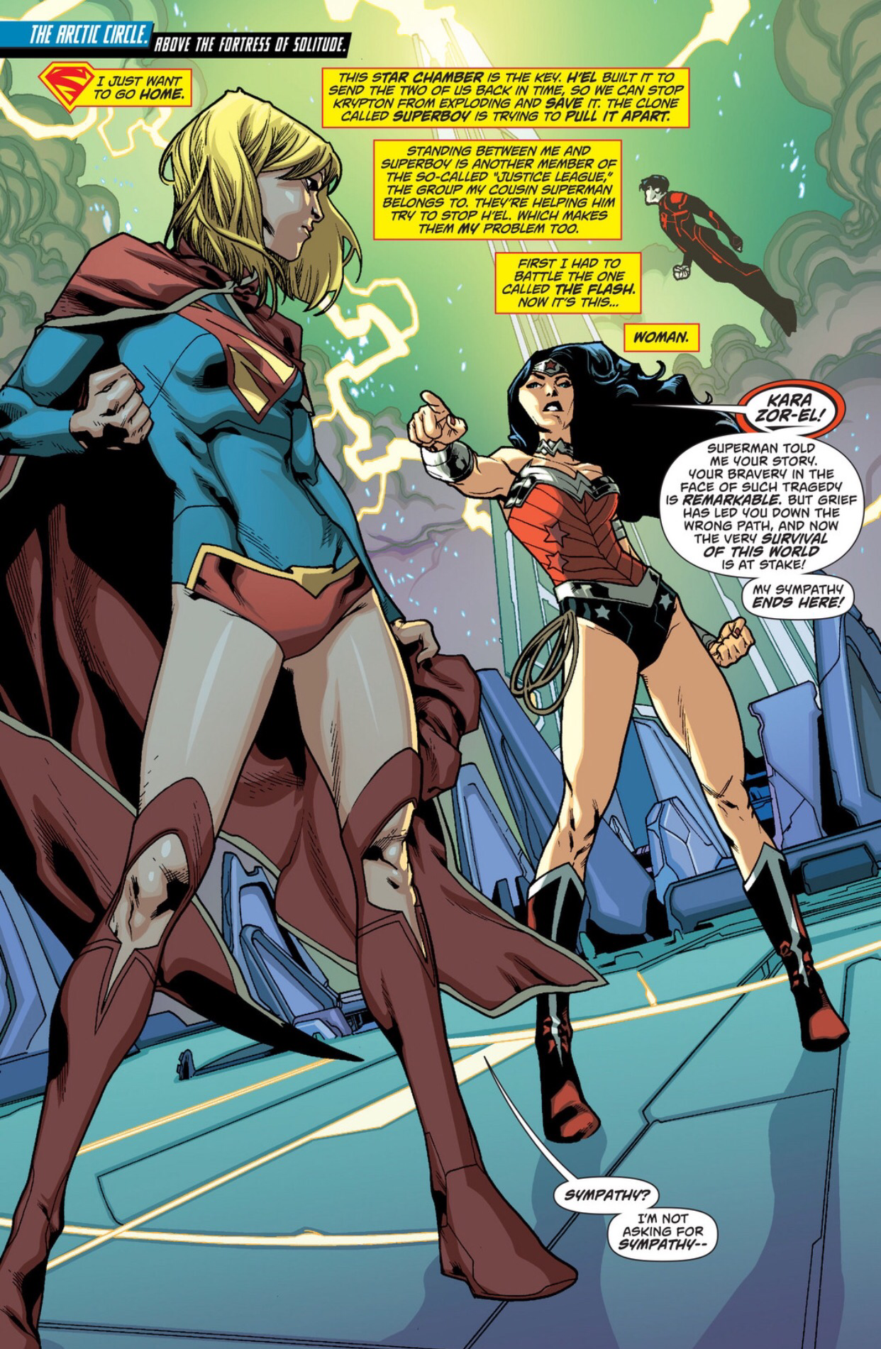 supergirl vs. wonder woman |