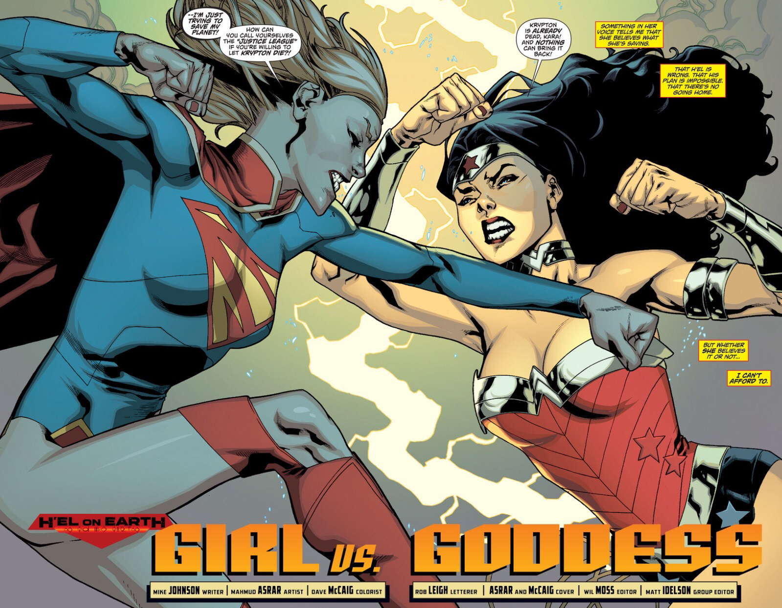 Wonder Woman vs. Supergirl