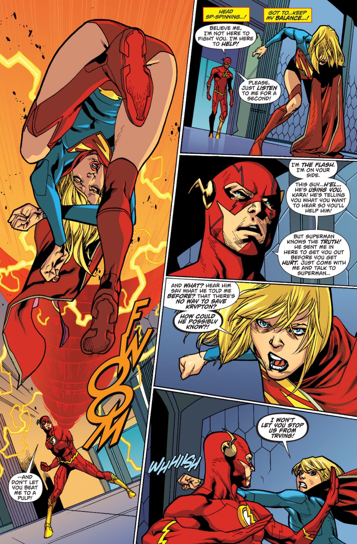 the flash vs. supergirl