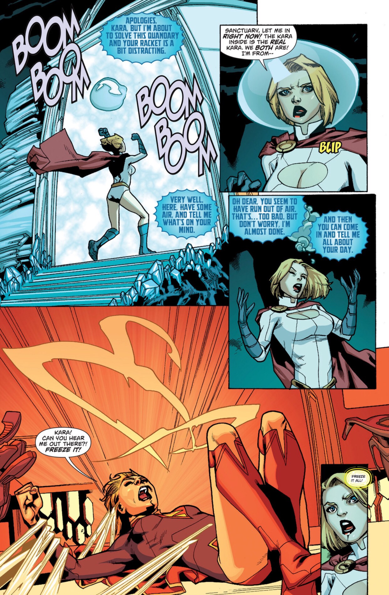 Supergirl uses science