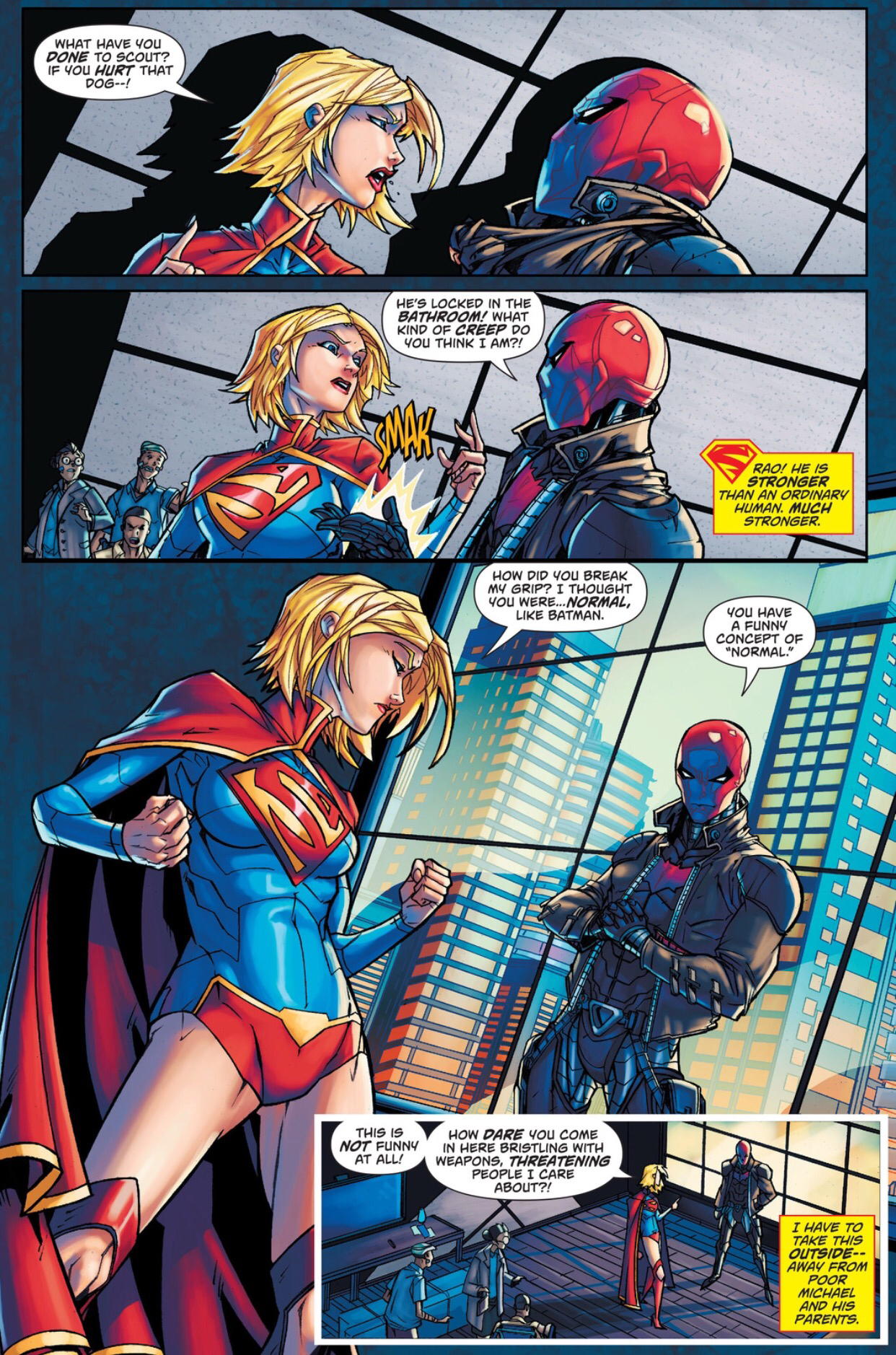 Supergirl and The Red Hood team up  |