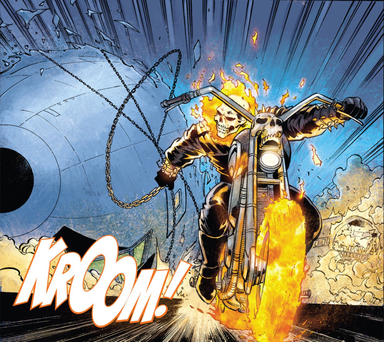Ghost Rider destroys a jumbo jet