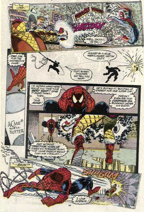 spider man uses science