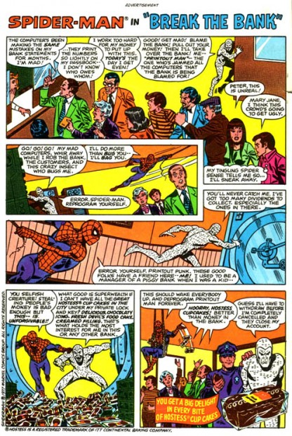 Hostess spiderman ads