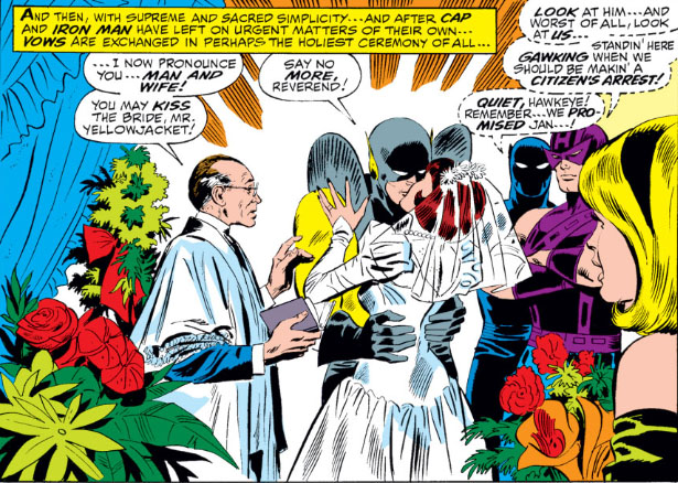 Hank Pym marries the wasp