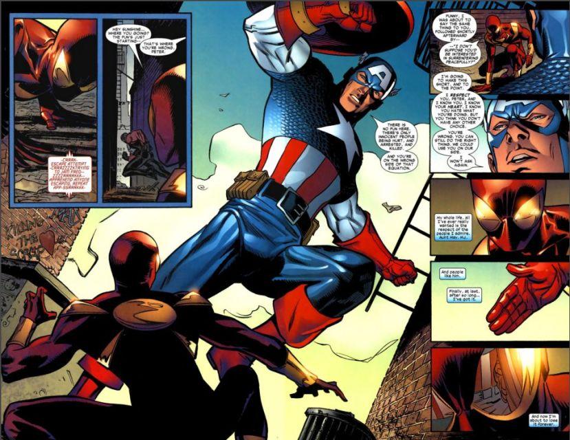 captain america vs. spiderman 1