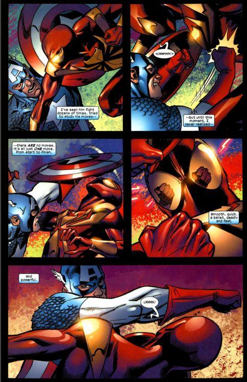 captain america vs. spiderman 3