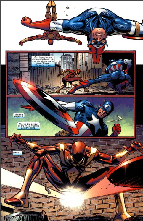 captain america vs. spiderman 4