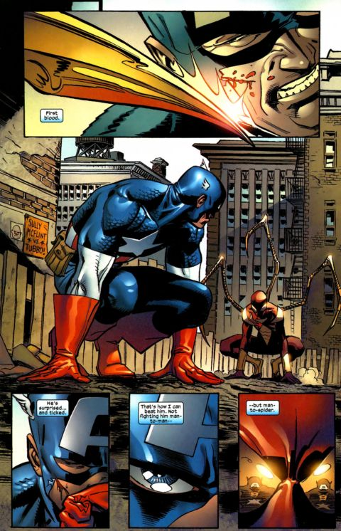 captain america vs. spiderman 7