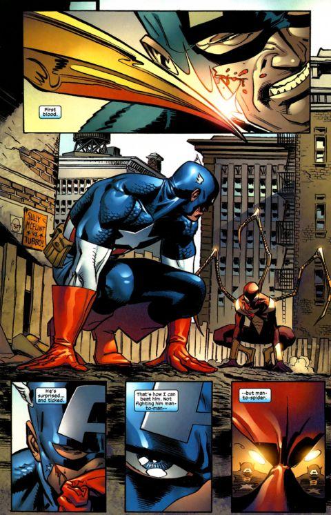captain america vs. spiderman 7