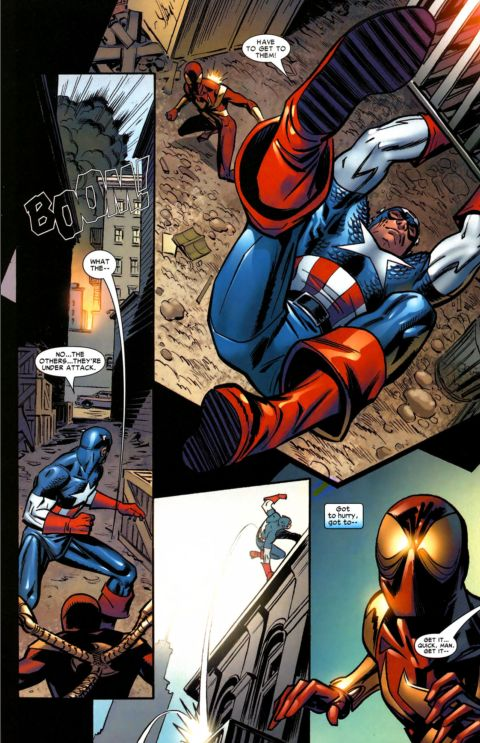 captain america vs. spiderman 8