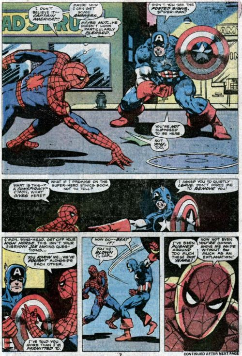 Captain America vs Spider-Man