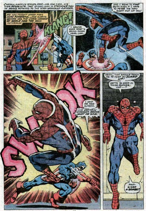 Captain America vs Spider-Man