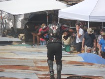 Captain America Civil War set photos crossbones falcon