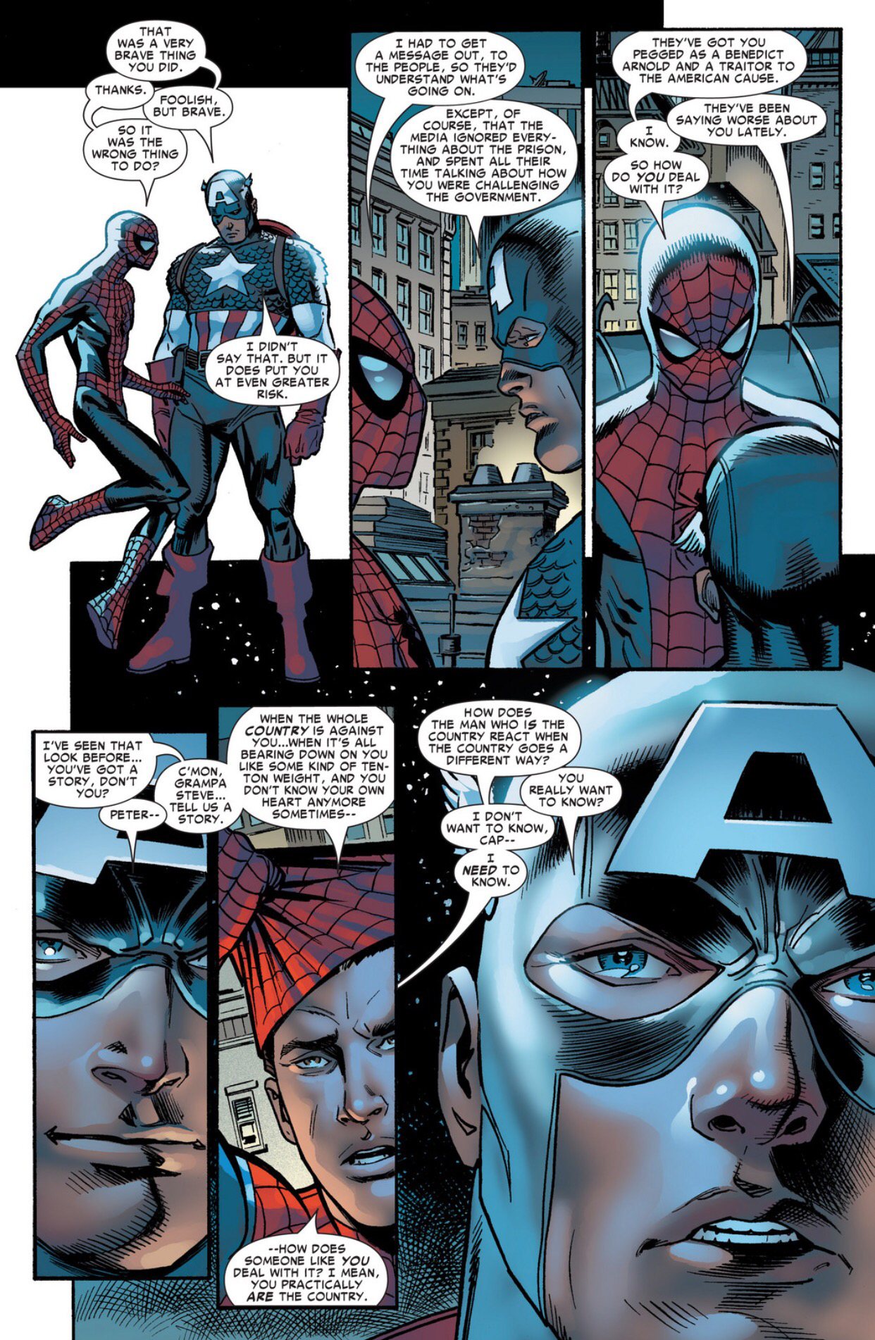 captain america speech to spiderman