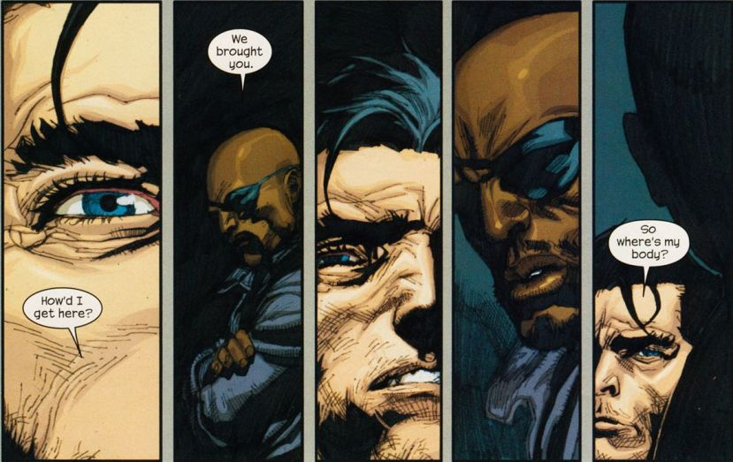 ultimate wolverine and nick fury