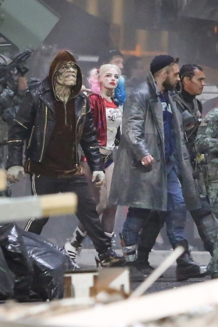 suicide squad set photos