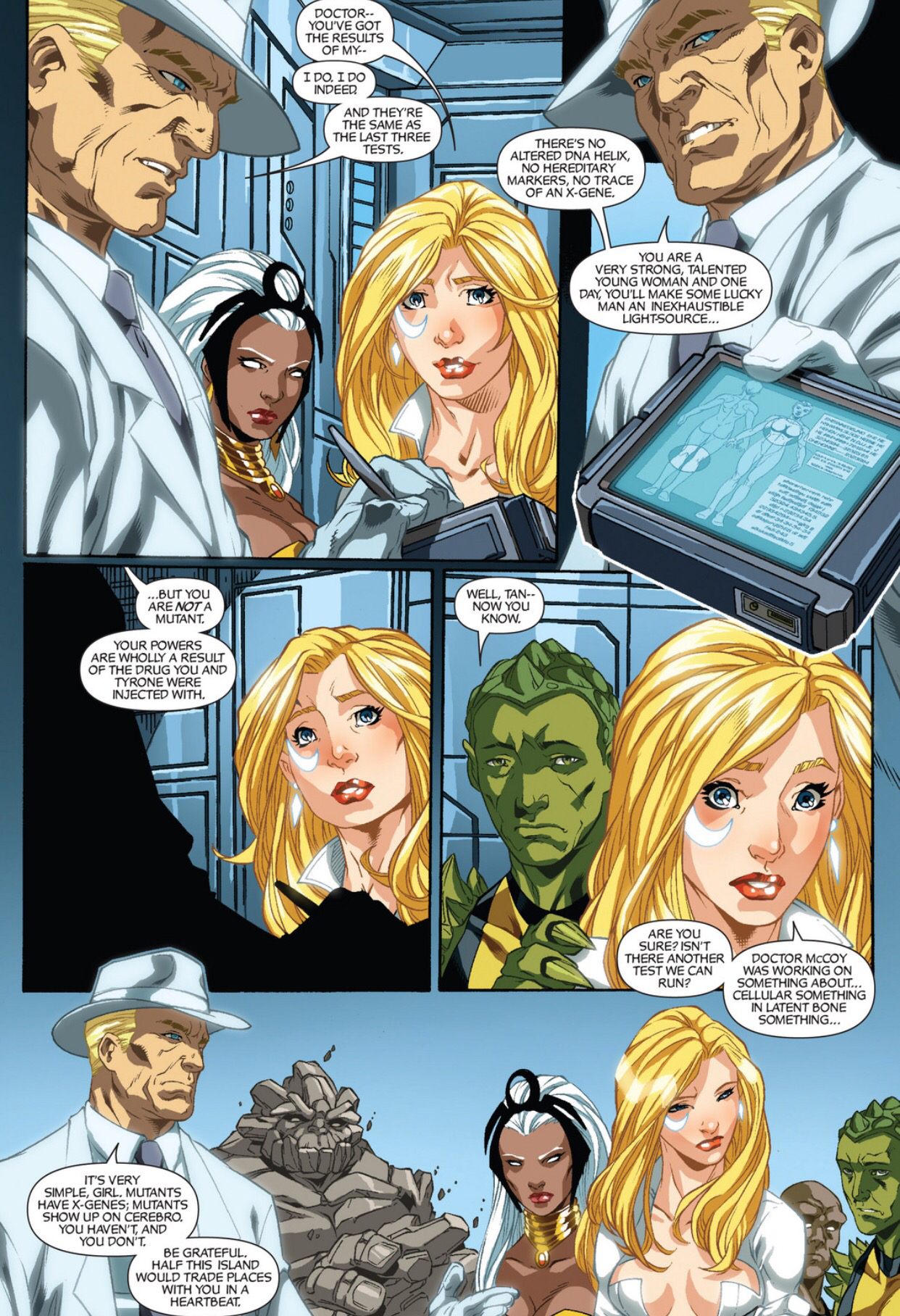 cloak and dagger dagger is told she isn�t a mutant