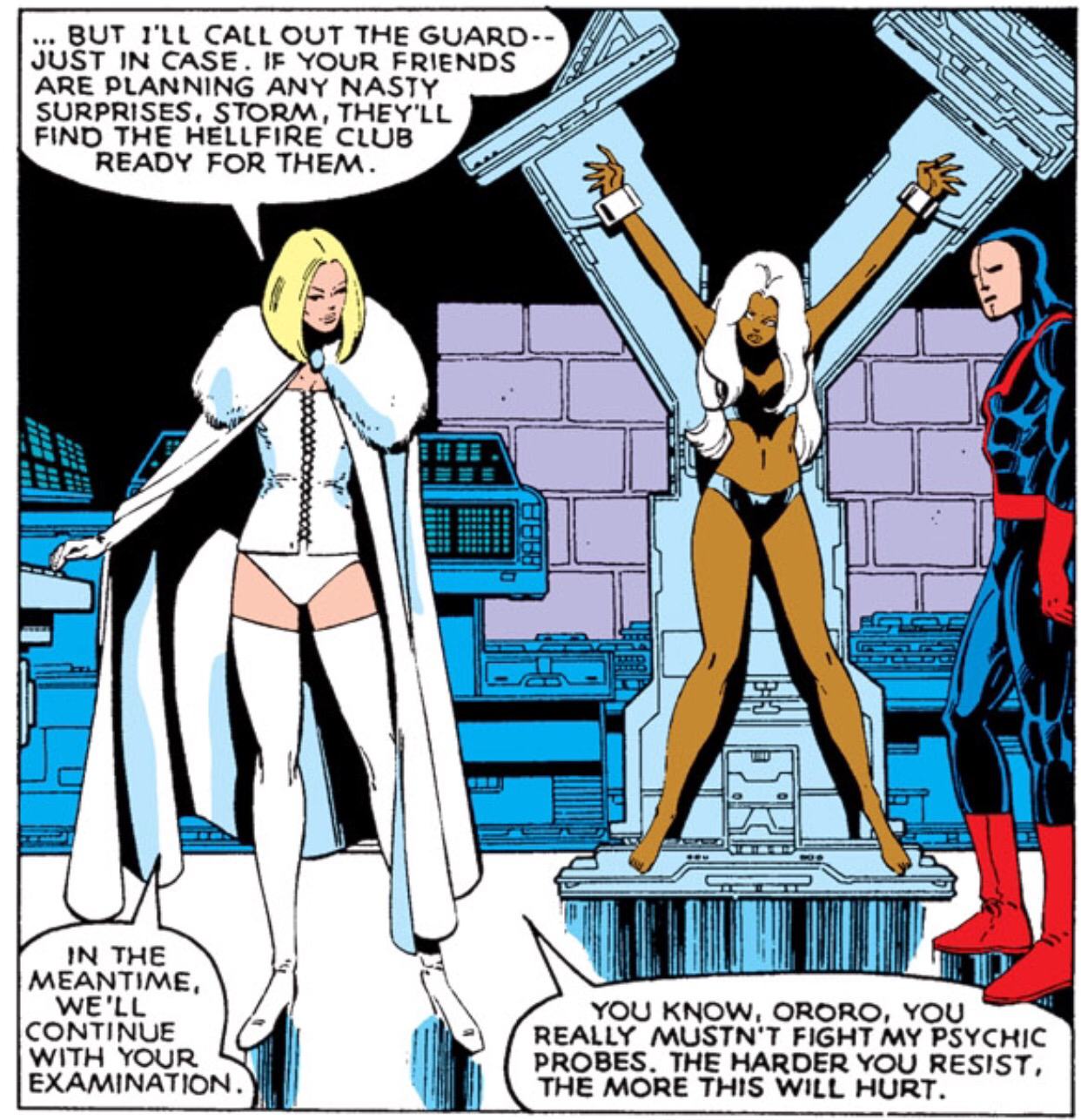 Emma Frost captures the X-Men