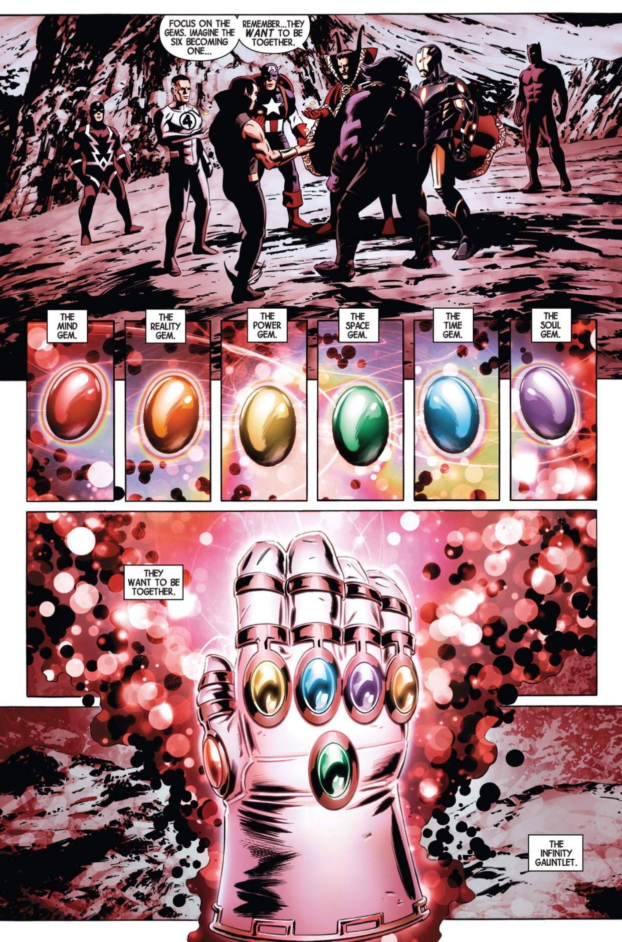 Captain America Uses The Infinity Gauntlet At The End Of The World