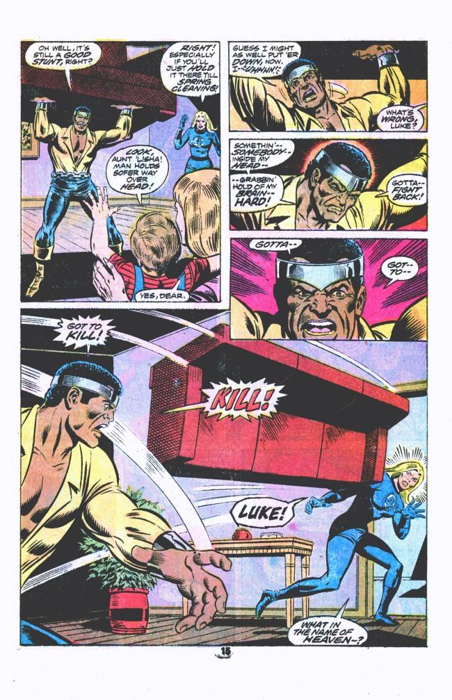 Power Man vs. The Fantastic Four | lowbrowcomics