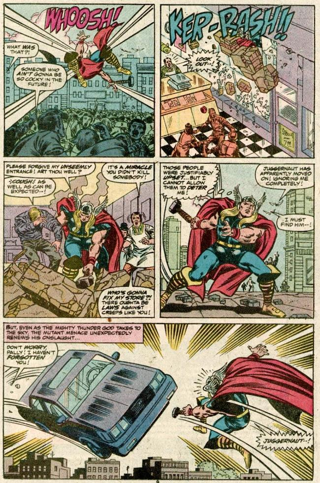 The Mighty Thor vs. Juggernaut