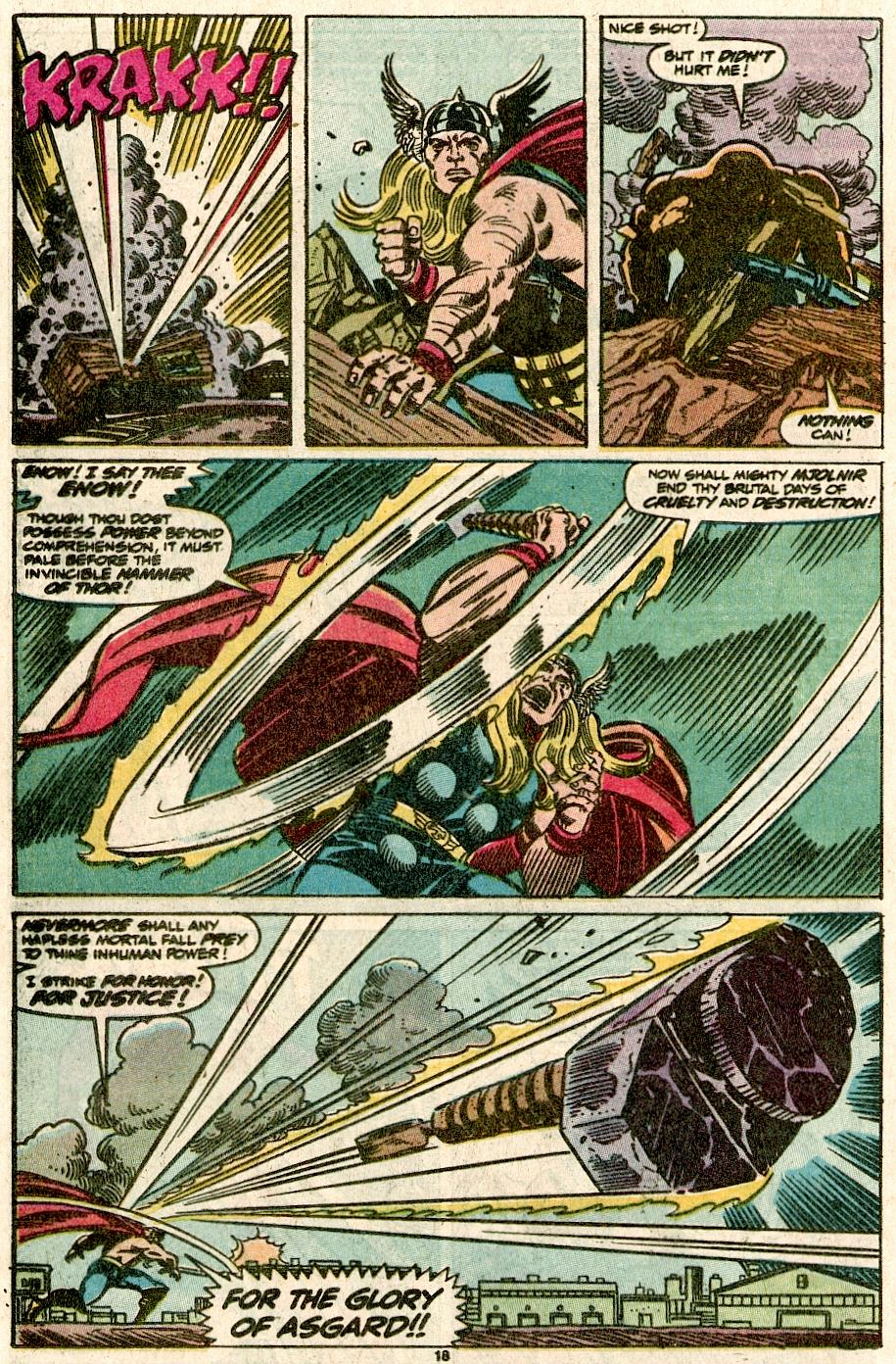 The Mighty Thor vs. Juggernaut