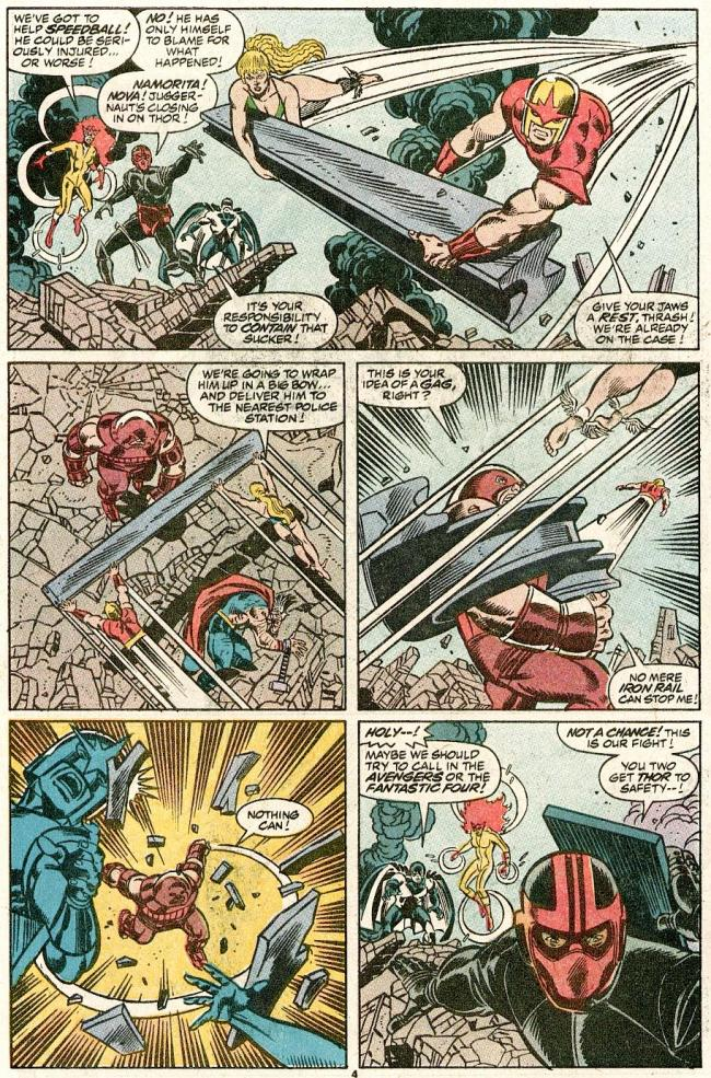 The Mighty Thor vs. Juggernaut with The New Warriors
