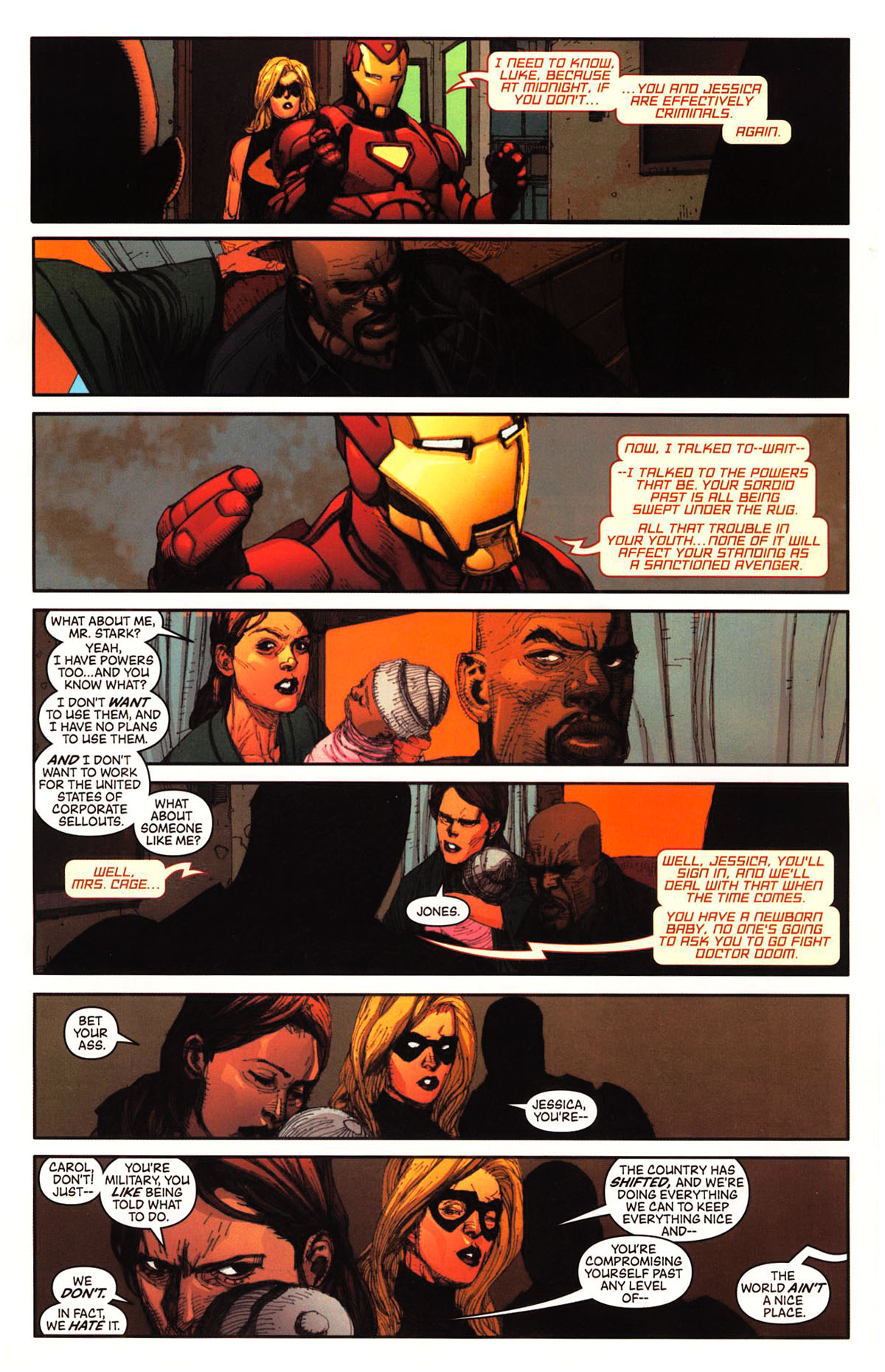Luke Cage compares the registration act to slavery
