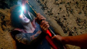 supergirl heat vision