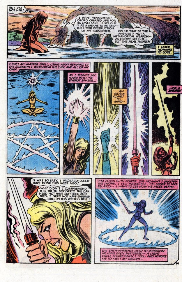 Magik creates the Soulsword