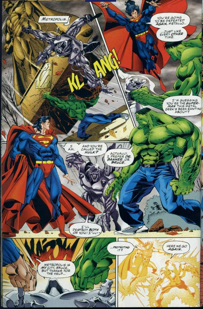 dc vs  marvel  superman vs  the hulk
