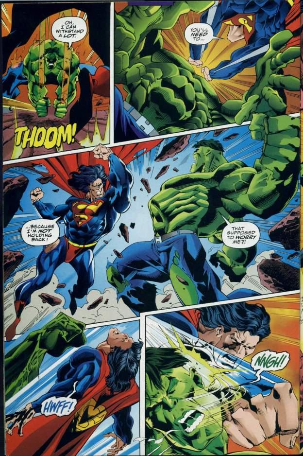 dc vs marvel superman vs the hulk