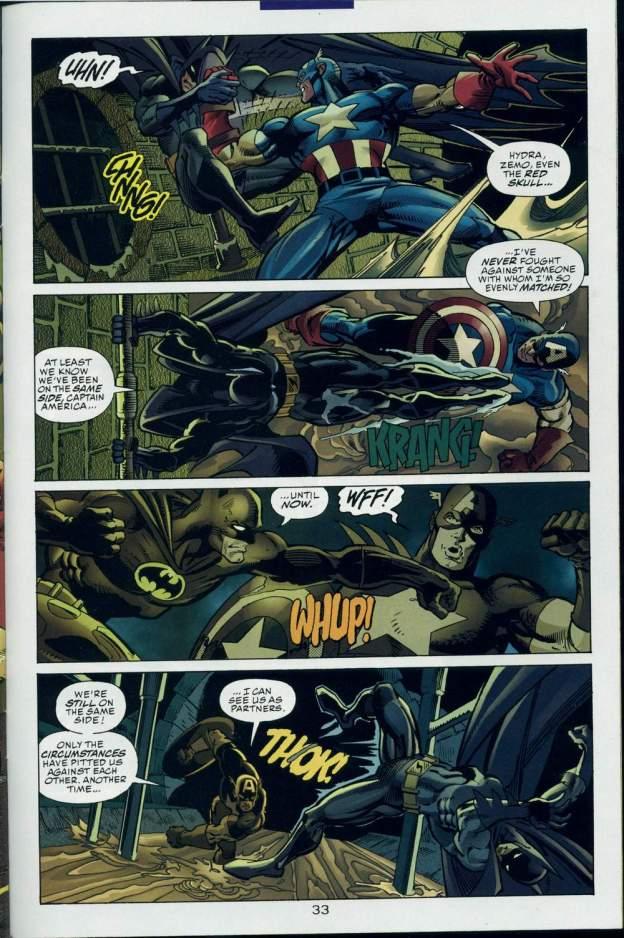 dc vs marvel batman vs captain america