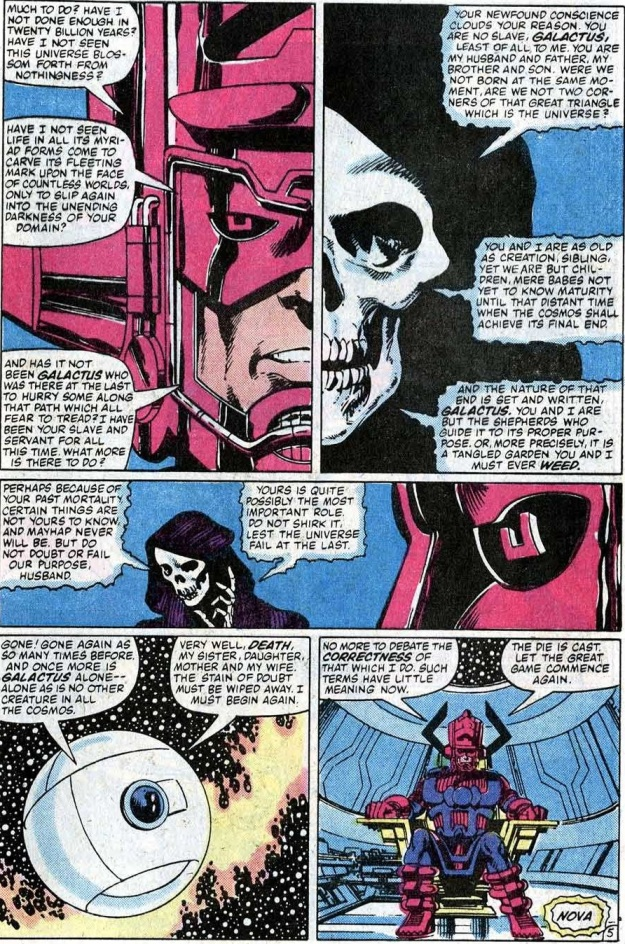 Galactus talks to death