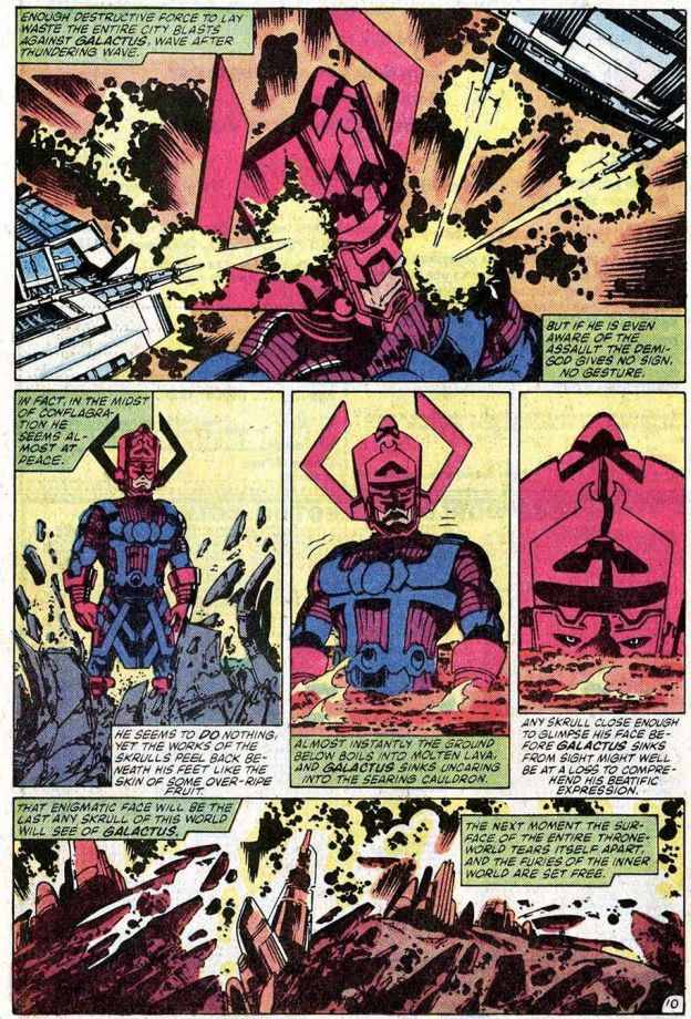 Galactus devours the Skrull Throne World