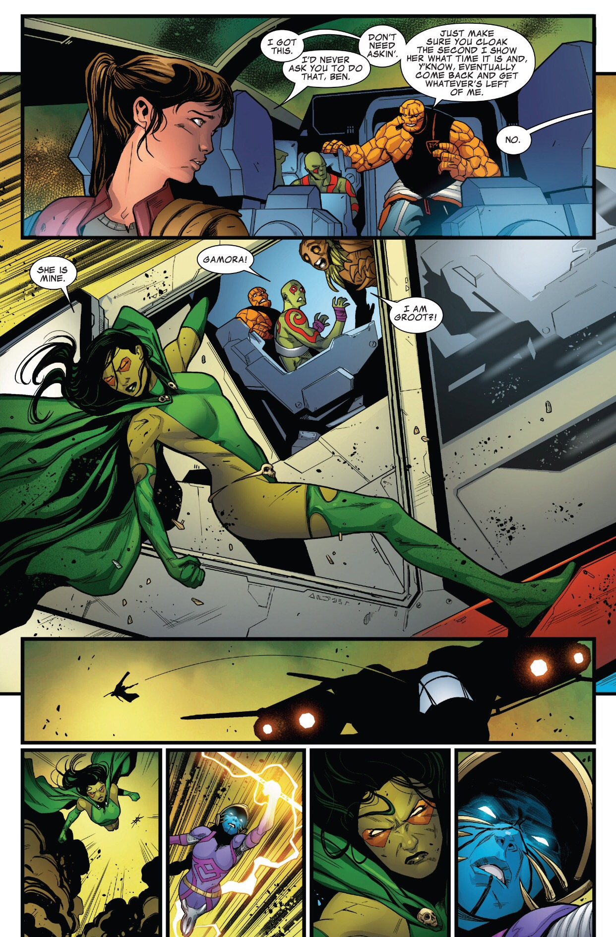 Guardians Of The Galaxy Gamora Vs Hala The Accuser