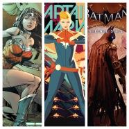 wonder woman, captain marvel, batman