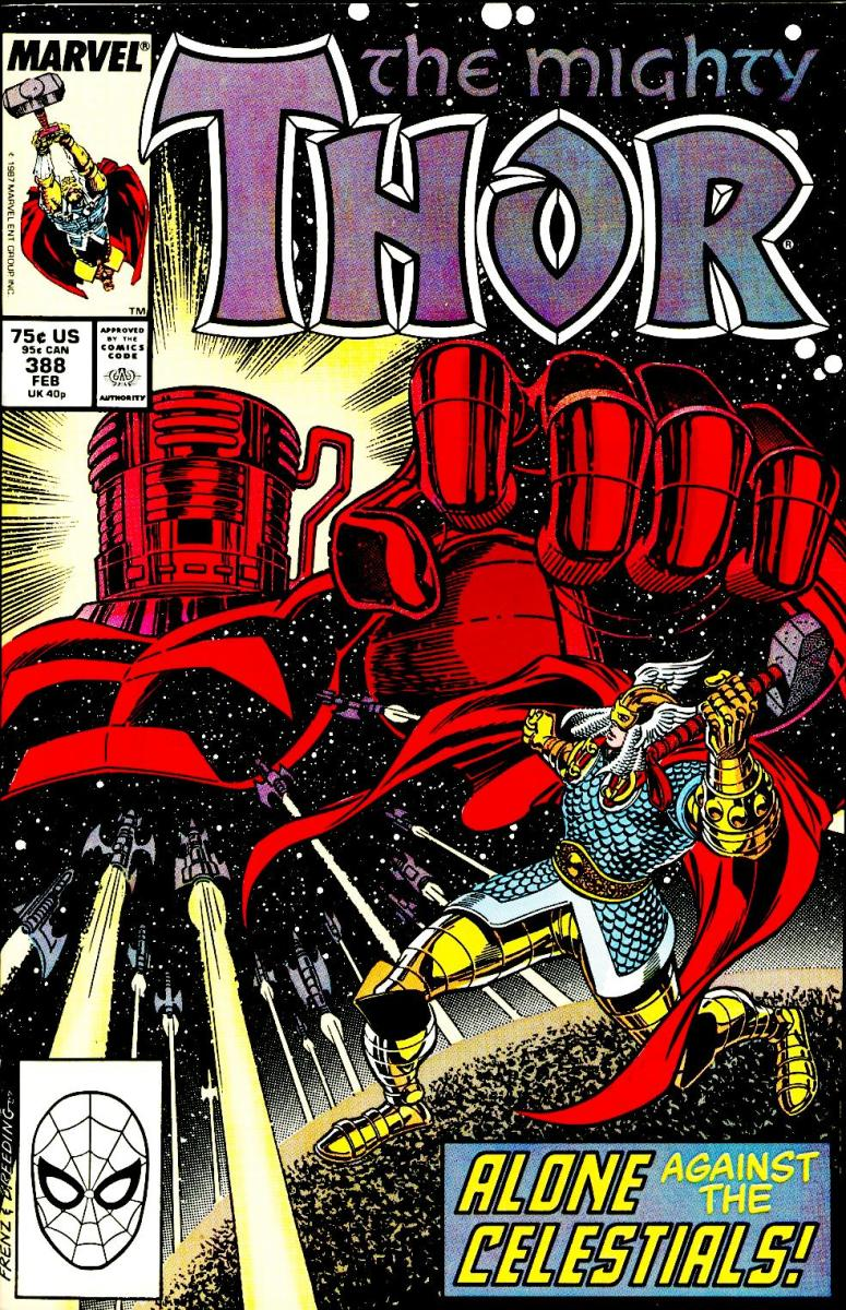 The Mighty Thor uses the godblast vs. The Celestial Exitar the Exterminator (Part 2)