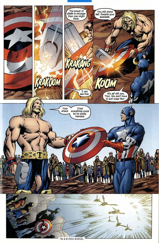 The Mighty Thor Vs Captain America Mjolnir Dents Caps