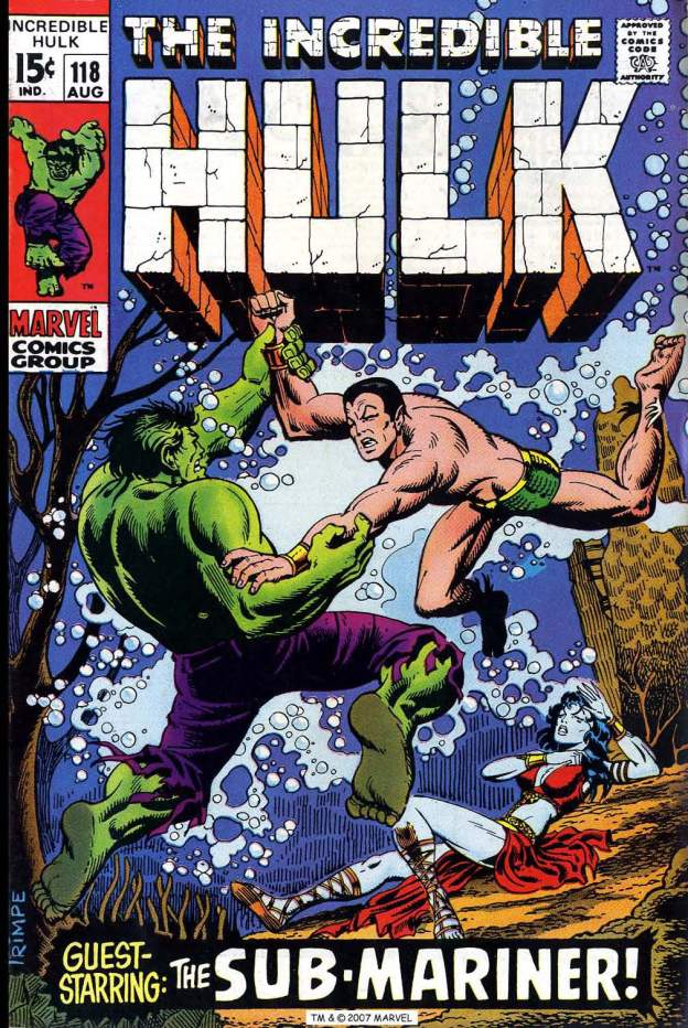 Incredible Hulk Sub-Mariner Namor