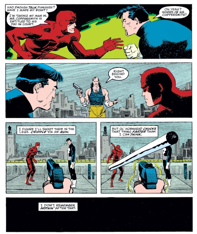 Daredevil fights The Punisher