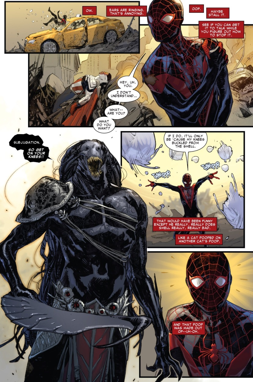 Spider-Man vs. Blackheart, Spider-Man #1, Miles Morales