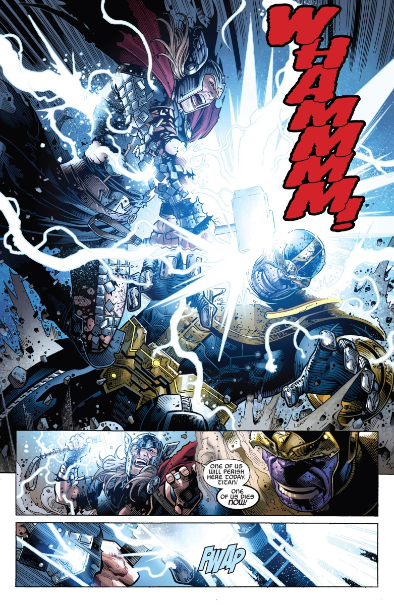 Thor vs. Thanos (End of Infinity)