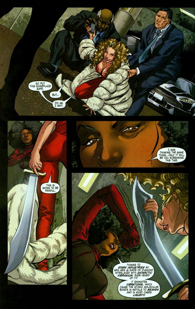 What is stronger than Adamantium? Misty Knight arm is stronger than adamantium. Misty Knight arm made out of vibranium