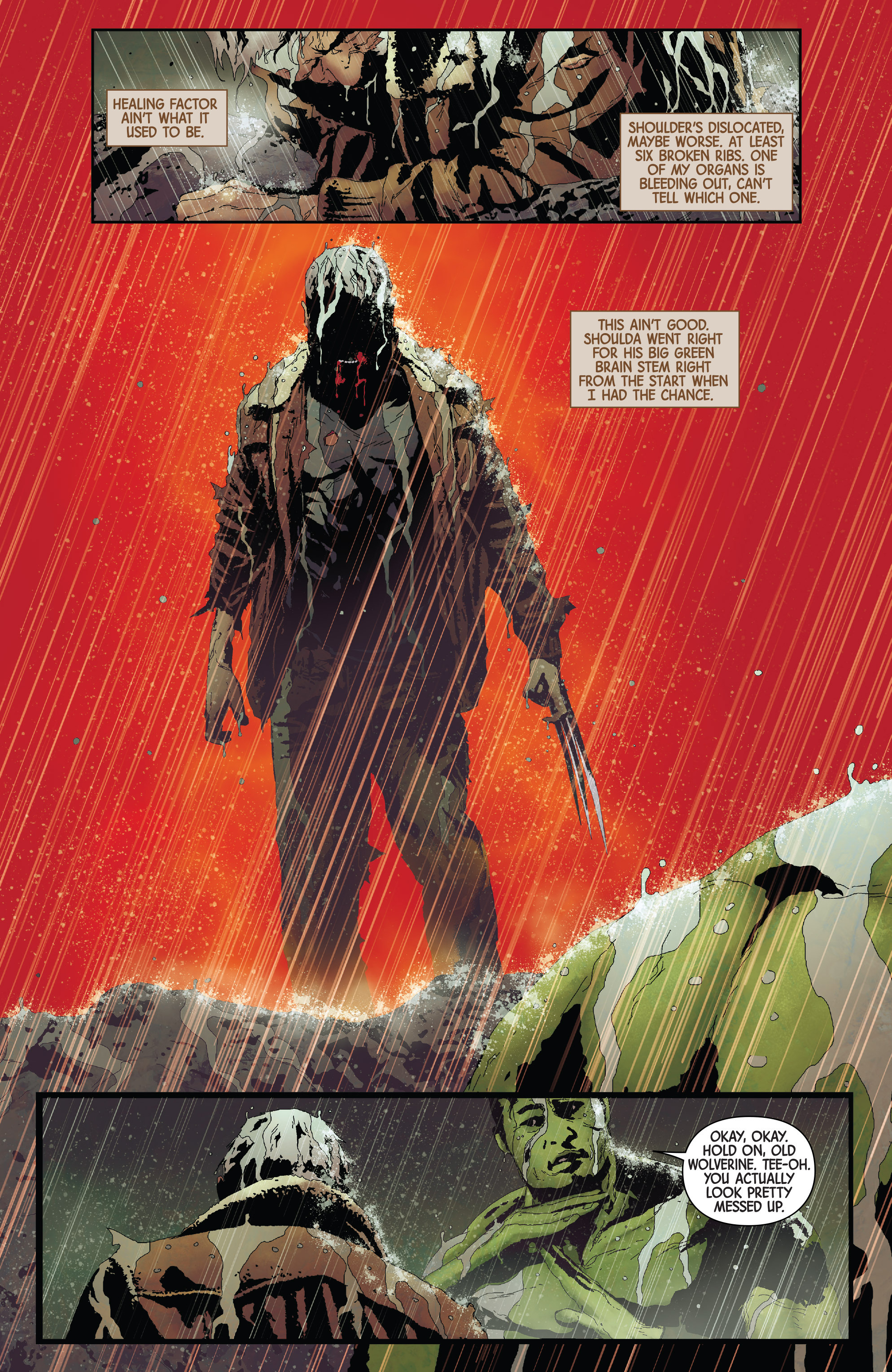doesn t old man logan have an adamantium skeleton marvel