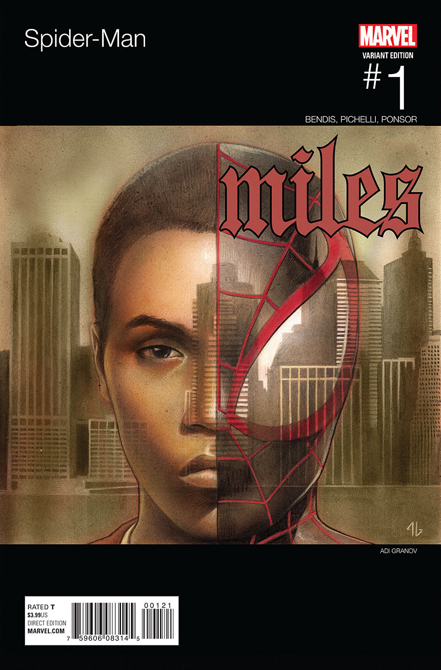Spider-Man #1 Miles Morales Illmatic cover