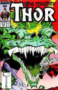 The Mighty Thor vs. Jormungand the World Serpent