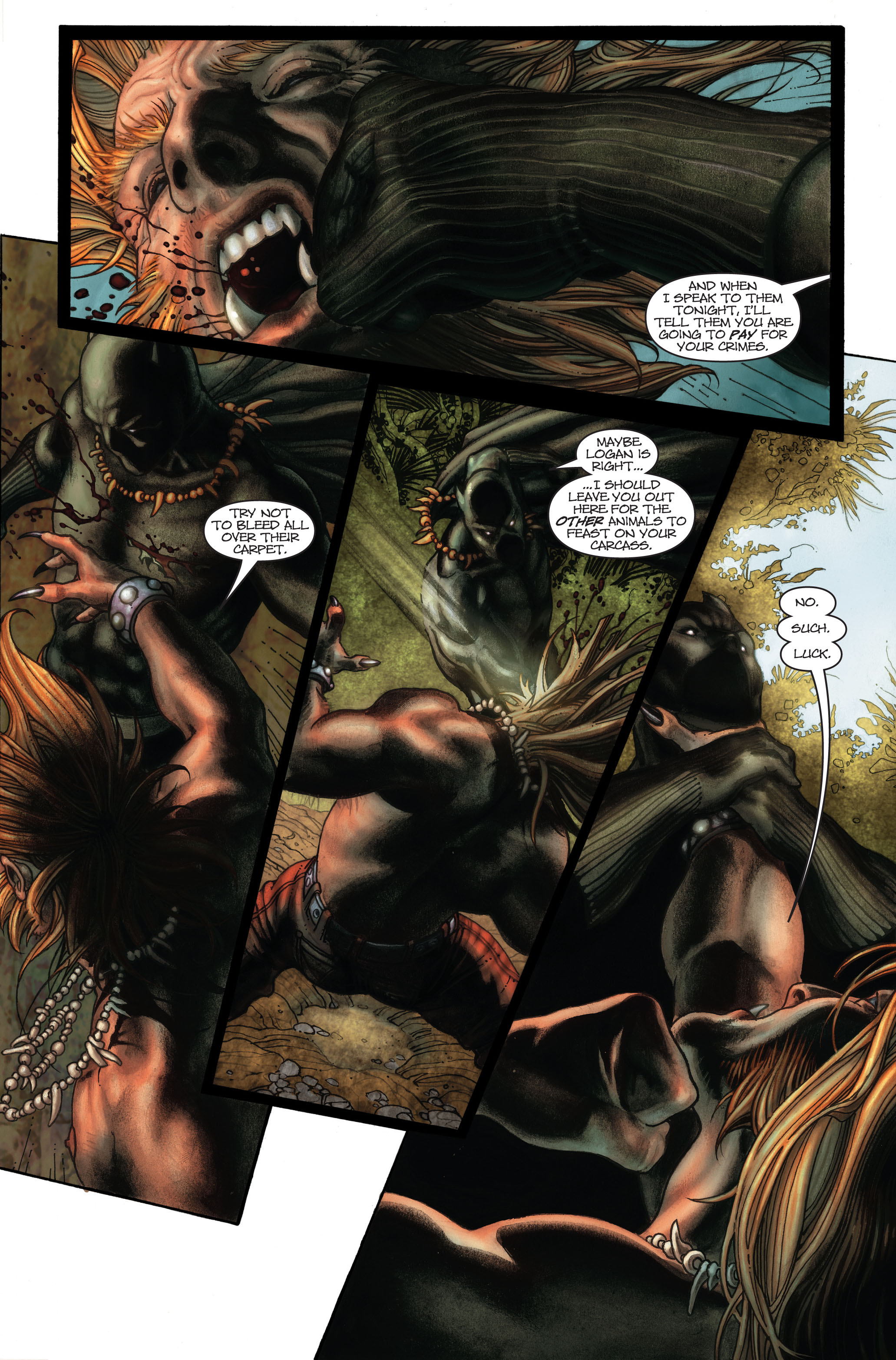 Black Panther Amp Wolverine Vs Sabertooth